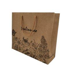 Boutique de Lujo Lipack Ropa de papel bolsas de embalaje de papel personalizados bolsas para Tienda de ropa