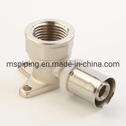 Pressione as conexões de latão-U, Th, Multijaw com marca de água/ACS/Aenor Certificado (Com Revestimento de parede Cotovelo)