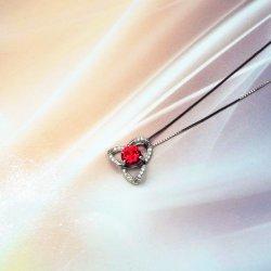 La moda de joyería de piedras preciosas plata esterlina Lab 925 Colgante Collar con granate/Citrine