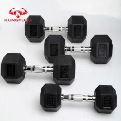 Crossfit Lympic Formation haltère Hex Set de caoutchouc pour des équipements de gym