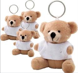 Kundenspezifisches sortiertes Plüsch-Tier-Spielzeug Keychain tragendes Großhandelst-Shirt