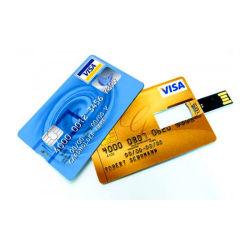 풀 컬러 USB 플래시 드라이브, 매우 얇은 신용 카드 인쇄(EC008)