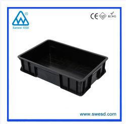 Armazenamento de ESD para salas brancas industriais Caixa de plástico / recipiente antiestático para Negócios