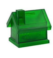 L'argent Boîte en plastique pour le stockage de l'argent Custom House forme des pièces de monnaie de banque d'épargne
