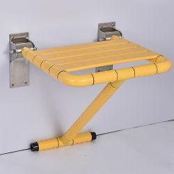 浴室の折りたたみ椅子の安全な反細菌は年配の無効洗面所のシャワーのシートの上で振れる