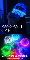 LED 레이브 모자는 모자를 남자 여자 아이를 위한 빛을내는 7개의 색깔 빛난 복장 당 연주회 불이 켜진다