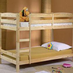 Les enfants de couleur blanche des meubles en bois solides Tier 3 lits superposés avec tiroirs de rangement