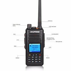 Dmr цифровой Dm-1702 Двухдиапазонный дуплексной радиосвязи рации ветчины любительских радиостанций