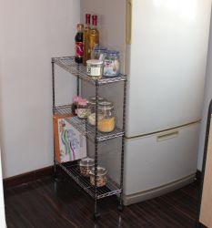 DIY 3 яруса твердых хром металлический провод кухни Бейкера в отсек для хранения тележки с колесами