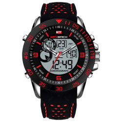 El hombre Mens relojes Fashion relojes de regalo Reloj Digital de la calidad de cuarzo relojes personalizados a deportes de venta al por mayor reloj Dual Time ver