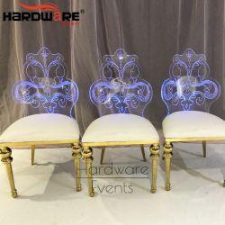 白いPUの革アクリルの宴会の家具の卸売党椅子