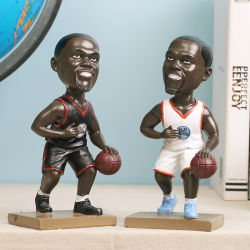 La estrella de baloncesto de Baloncesto de carácter Bobble Head Decoracion Figurine
