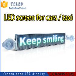 شاشة LED للسيارة عرض LED إشارة LED متحركة قابلة للبرمجة بالتمرير شاشة إعلان سيارة الأجرة