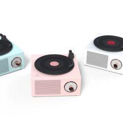 Мини-Bluetooth 5.0 звук в салоне ретро виниловые записи оратора беспроводной динамик