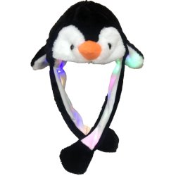 Les filles Cute Animal lapin en peluche Hat enfants oreilles mobiles de l'airbag s'allument farcies Cosplay Party Fancy Dress chapeaux d'hiver