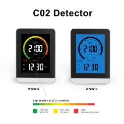 ساعة منبه محلل جودة الهواء لجهاز مراقبة CO2 الساخن باستخدام الأشعة تحت الحمراء بالنسبة لـ Home Office Greenhouse