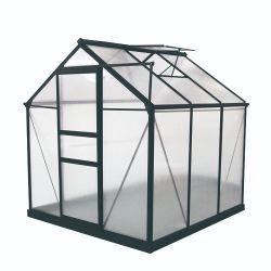 6X6FT 알루미늄 방수 폴리탄산염 정원 온실