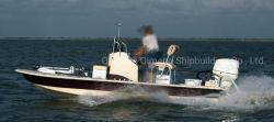 18.4FT 5.6م ألومنيوم عالي الجودة أفضل بيع الإبحار دورية يدوية الصنع قارب ذو زورق مطاطي اختياري