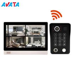 Impressão digital sem fio WiFi IP da porta de vídeo HD CAMPAINHA TELEFONE suporte de intercomunicação de controle de aplicativos remotos