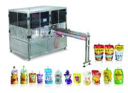 Stand up pouch com Bebida de sabor da tampa mala bolsa Jorro enchendo o nivelamento da máquina de embalagem