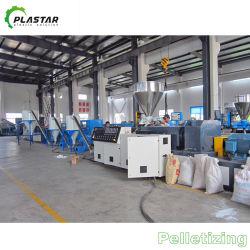 Refroidissement par air en PVC et les granules de plastique granulateur Ligne de coupe à chaud