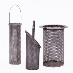Цилиндрический фильтр Рукой удерживая корзину тип фильтра для системы фильтрации жидкости