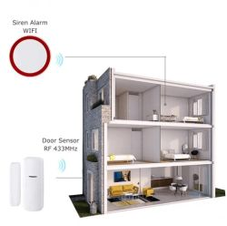 Warnungs-Sicherheitssystem, drahtlose Detektor-Fühler-Installationssatz APP Fernsteuerungs für Haupteinbrecher-Sicherheits-Warnungssystem