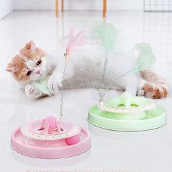 Nuevos productos al por mayor interactivo Pet Cat Teaser Pluma Juguetes