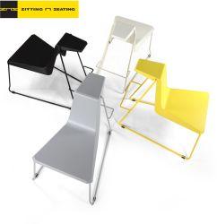 현대적인 의자 웨딩 라운지 레저 플라스틱 바 연회 스택형 강철 학교 도서관을 위한 금속 교육 사무실 학생 가정 공개 공개 의자 가구