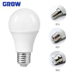 China de fábrica del fabricante bombilla LED Lámpara de ahorro de energía de alta calidad A60 5W-15W E27 B22 precio de fábrica de luz LED SMD con CE RoHS aprobado