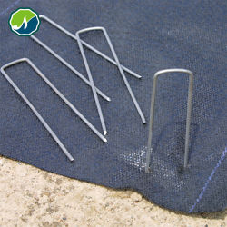 ガーデンステークステントステークス亜鉛めっき風景ステープルス 11 ゲージスチール グラウンドテントペグピンガーデンステイプルズ
