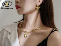 銀製の付属品のハートの形のネックレスのブレスレットの Earring の方法宝石類