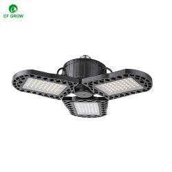 Ventilateur pliable de la forme d'éclairage résidentiel 45W E27 de pale de ventilateur de base a conduit le lotier corniculé ampoule lampe