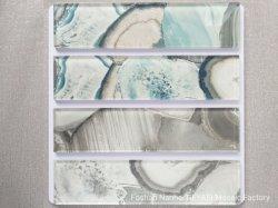 op de Oppervlakte van Korrel 75 van de Steen van het Blok van het Vlakke Glas Marmeren * de Tegel van het Glas van 300 * 8/6 mm voor Binnenhuisarchitectuur gys-1110