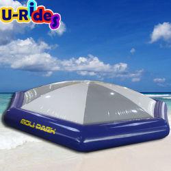 水公園のaquaparkのための巨大な跳ねるドーム水トランポリンの跳躍のベッド