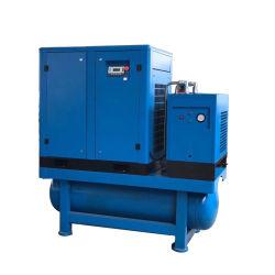 De gecombineerde Compressor van de Lucht van de Schroef van de Filter van de Lijn van de Tank van de Opslag van de Lucht Drogere Geïntegreerdea