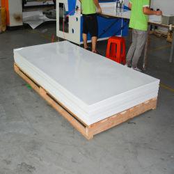 Personnalisée en usine 0.8mm anti-rayures de couleur blanche PETG plastique miroir 4x8 feuille décorative pour panneau d'armoires de cuisine