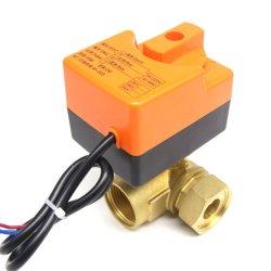 Sistema Eléctrico de Mezcla de Agua de Calefacción de Válvula de Bola de Tres Vías Manual Dedicado