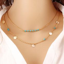 Multi-Capa bohemia collares colgante para las mujeres el encanto de la moda de joyería cadenas