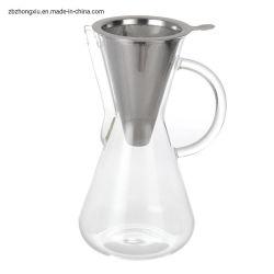 Copo Café com S/S Deitar Filtro de vidro sobre a máquina de café