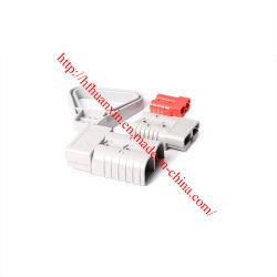 Echter Energien-Verbinder-Netzstecker-Batterieverbinder Anderson-Sb350 350A 600V mit 2/0 Agw tritt mit Golf-Karren-Gabelstapler-Aufladeeinheit in Verbindung