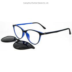 La meilleure qualité de Design de mode Cat Eye Bonne élasticité TR90 Châssis optique Clip sur des lunettes de soleil pour les hommes Mesdames