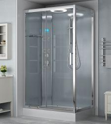 Contenitori per bagno in vetro trasparente/grigio doccia box doccia a vapore