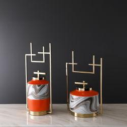 Keramik Metall Handwerk Wohnzimmer Weinschrank Home Dekoration Artikel