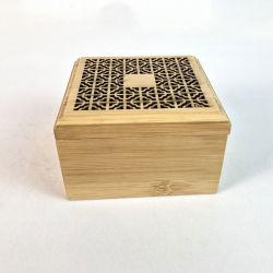 Confezione regalo rotonda in legno incisa all'ingrosso