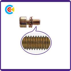 Многоцветных Zinc Carbon Steel/4.8/8.8/10.9 с шестигранной головкой цилиндрический винт с прокладкой/шайбы