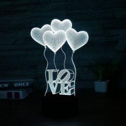 3D colorée lampe Led de visualisation 3D Amour lampe CADEAUX SAINT VALENTIN
