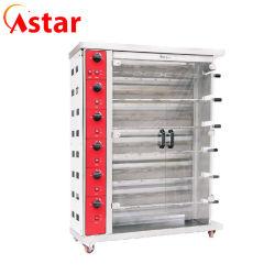 Gas Chicken Rotisserie oven met 6 Row Burner