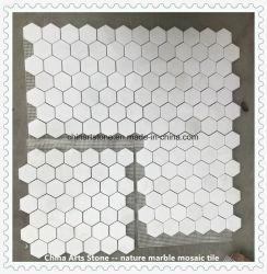 Регулярный характер Thassos прижать чистый белый мрамор мозаика для Tile