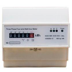 35mm Digital para carril DIN de cuatro cables de tres fases de la Electricidad de medidor de energía activa MEDIDOR KWH eléctrico